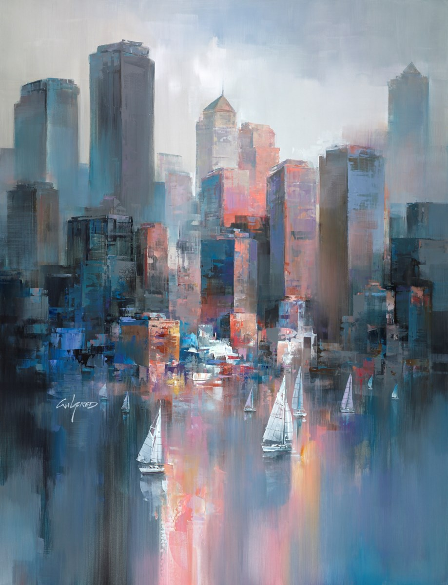 City Reflected VI by wilfred -  sized 35x46 inches. Available from Whitewall Galleries